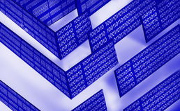 Abstraktes Labyrinth der Technologie Lizenzfreie Stockfotografie