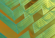 Abstraktes Labyrinth der Technologie Stockfotos