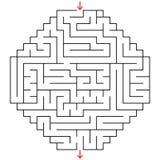 Abstraktes Labyrinth Ein interessantes Spiel für Kinder und Jugendliche Einfache flache Vektorillustration lokalisiert auf weißem Lizenzfreie Abbildung