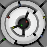 Abstraktes Labyrinth und farbige Bereiche, 3d Stockbilder