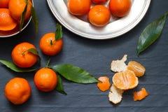 Abstraktes Lebensmittelstillleben der Tangerinen lizenzfreie stockfotografie