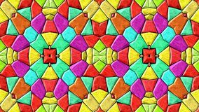 abstraktes lebhaftes änderndes farbenreiches Videospektrum der nahtlosen Schleife des Kaleidoskopmosaikhintergrundes stock footage