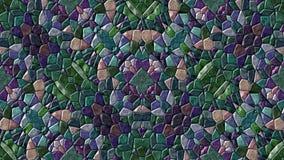 Abstraktes lebhaftes änderndes nahtloses Schleifenvideo des Kaleidoskopmosaikhintergrundes - Retro- dunkle purpurrote und blaue F stock video