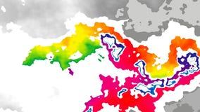 abstraktes lebhaftes beflecktes des nahtlosen farbenreiches Spektrum Schleifenvideoregenbogens des Hintergrundes stock video footage