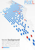 Abstraktes Leerzeichen Nahtloses glückliches Familienmuster des Pixels Art Vektor vektor abbildung