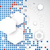 Abstraktes Leerzeichen Nahtloses glückliches Familienmuster des Pixels Art Vektor stock abbildung