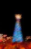 Abstraktes Licht des Weihnachtsbaums Lizenzfreie Stockfotos