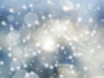 Abstraktes Lichtgirlande des Hintergrundes Weiche unscharfe Weihnachts Lizenzfreie Stockfotografie