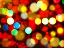 Abstraktes Lichtgirlande des Hintergrundes Weiche unscharfe Weihnachts Stockbild