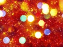 Abstraktes Lichtgirlande des Hintergrundes Weiche unscharfe Weihnachts Stockfotos