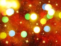 Abstraktes Lichtgirlande des Hintergrundes Weiche unscharfe Weihnachts Lizenzfreies Stockbild