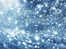 Abstraktes Lichtgirlande des Hintergrundes Weiche unscharfe Weihnachts Stockfoto