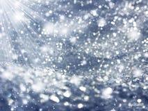 Abstraktes Lichtgirlande des Hintergrundes Weiche unscharfe Weihnachts Lizenzfreie Stockfotos