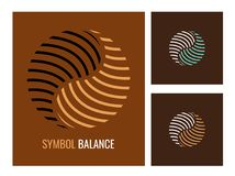 Abstraktes Logo Yin Yang, Symbolharmonie und Balance Lizenzfreie Stockfotografie