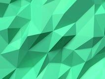 Abstraktes Lowpoly-Hintergrundgrün Geometrische polygonale Illustration des Hintergrundes 3D stock abbildung