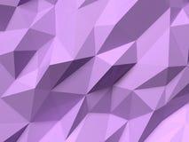 Abstraktes Lowpoly-Hintergrundpurpur Geometrische polygonale Illustration des Hintergrundes 3D Stockbild