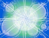 Abstraktes Luftblasen-Kreis-Glühen Stockfoto