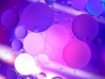 Abstraktes Makro des Wassers und des Öls oben geschlossen Lizenzfreies Stockfoto
