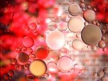 Abstraktes Makro des Wassers und des Öls oben geschlossen Stockbilder