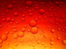 Abstraktes Makro des Wassers und des Öls oben geschlossen Stockfotos