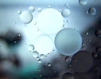 Abstraktes Makro des Wassers und des Öls oben geschlossen Lizenzfreie Stockfotografie