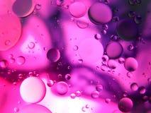 Abstraktes Makro des Wassers und des Öls oben geschlossen Lizenzfreie Stockbilder