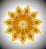 Abstraktes Mandalaorangenfoto Lizenzfreie Stockfotografie