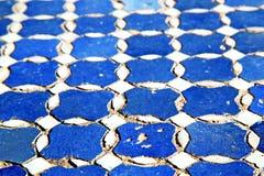 abstraktes Marokko in der Afrika-Blaubeschaffenheit Lizenzfreie Stockfotos