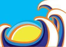 Abstraktes Meer bewegt Plakat wellenartig. Farbe lizenzfreie abbildung