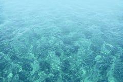 Abstraktes Meer des blauen Wassers Stockbilder