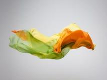 Abstraktes mehrfarbiges Gewebe in der Bewegung lizenzfreie stockbilder