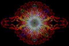 Abstraktes mehrfarbiges Muster Hintergrund Laserlichts geometrisch Lizenzfreie Stockfotografie
