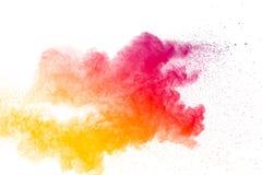 Abstraktes mehrfarbiges Pulver Stockfotografie