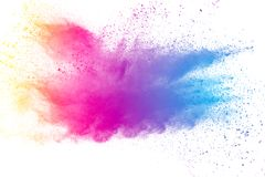 Abstraktes mehrfarbiges Pulver splatted Lizenzfreie Stockbilder