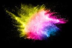 Abstraktes mehrfarbiges Pulver splatted Stockfotografie
