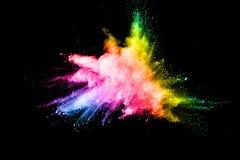 Abstraktes mehrfarbiges Pulver splatted Stockfoto
