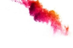 Abstraktes mehrfarbiges Pulver splatted auf weißem Hintergrund Lizenzfreie Stockbilder