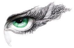 Abstraktes menschliches Auge (Serie C) Lizenzfreie Stockfotos