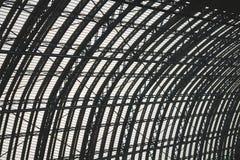 abstraktes Metall im englan London-Geländerhintergrund Stockfoto