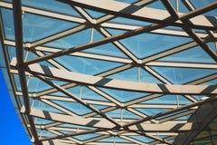 abstraktes Metall im englan London-Geländerhintergrund Stockfotografie
