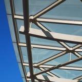 abstraktes Metall im London-Geländerstahl und -hintergrund Lizenzfreie Stockfotos