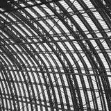 abstraktes Metall im London-Geländerstahl und -hintergrund Lizenzfreies Stockfoto