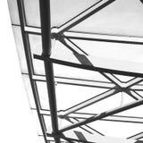 abstraktes Metall im London-Geländerstahl und -hintergrund Lizenzfreies Stockbild