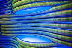 Abstraktes Metall leitet blauen Hintergrund Stockbild
