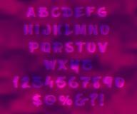 Abstraktes modernes Alphabet in der Art von Gläsern 3d Stockbilder