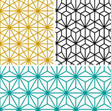 Abstraktes modernes geometrisches Hexagonmuster stock abbildung