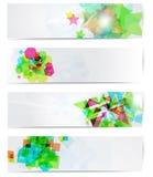 Abstraktes modernes sitefahnenset. Stockbild