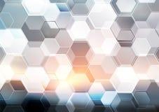 Abstraktes modernes Technologiehexagon-Beschaffenheitsdesign Stockbilder