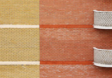 Abstraktes modernes Ziegelsteinhaus Lizenzfreies Stockfoto