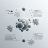 Abstraktes Moleküldesign Stockbild